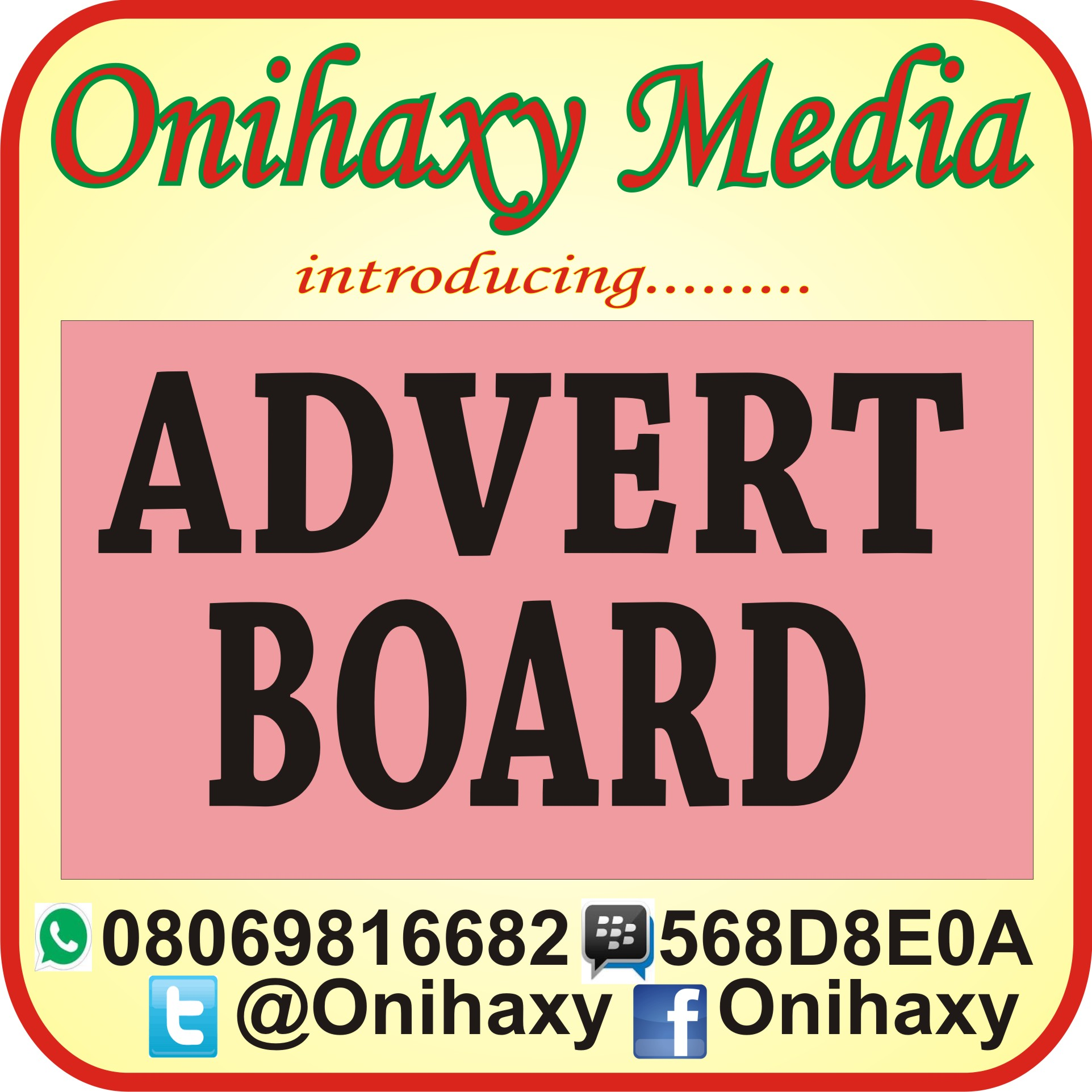 ADVERT BOARD
